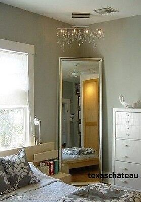 LARGE ANTIQUE SILVER MIRROR WALL DRESSING FLOOR FULL LENGTH FRENCH HORCHOW XL