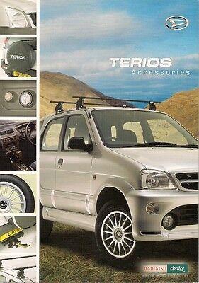 Daihatsu Terios Accessories 2000-2003 UK Market Foldout Sales Brochure