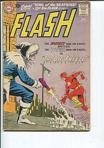 FLASH 114 GD-VG 2ND CAPTAIN COLD 1960
