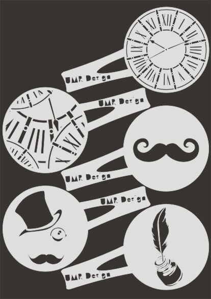 Keksschablone Kaffee Barista TK-004 Vintage ~ cookie stencil ~ UMR-Design