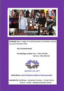 Groovejet -  Live Music Padbury Joondalup Area Preview
