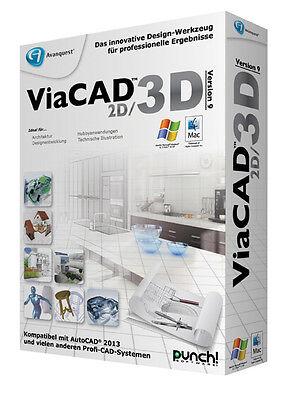 ViaCAD 2D / 3D Version 9 für WIN und MAC  von PUNCH!  + DriverGenius 12 auf CD online kaufen
