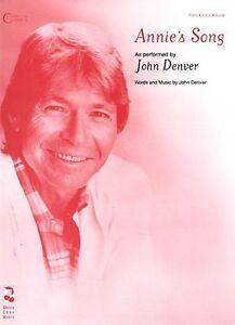 Annies song sheet music piano vocal john denver new 002504223