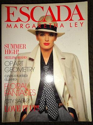 Vintage Escada fashion catalog 1992 Niki Taylor Naomi Campbell Yasmeen Ghauri