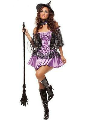 NEW Adult Women's Sexy Wicked Witch Cosplay Halloween Costume Fancy Dress S/M Adult Sexy Wicked Witch