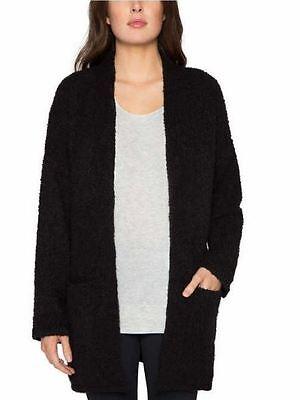NWTMatty M Women's Oversized Open Front Cardigan Knit Sweater Black XS/S