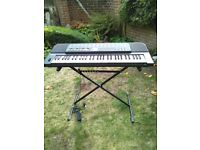 Casio ToneBank Professional series PMP-700 electric keyboard with stand.