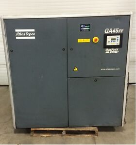 Atlas Copco Air Compressor with Integrated Refrigerated Dryer