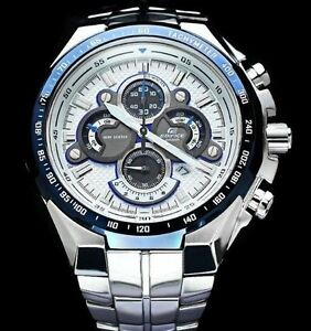 casio edifice analog watch for men ef 554sp 7avdf white dial image is loading casio edifice analog watch for men ef 554sp