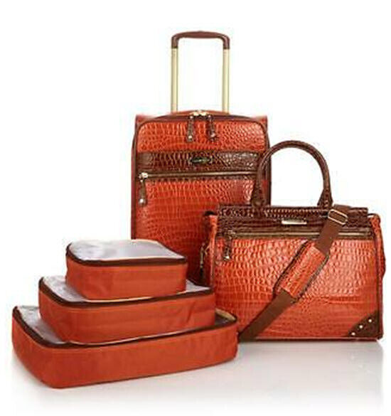 Samantha Brown 5-piece Classic Luggage Set New KOI ORANGE RARE COLOR NWTS  - $175.00