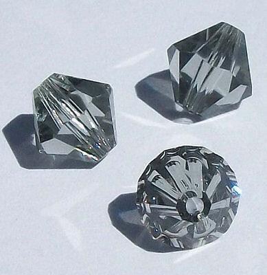 Black Bicone Swarovski Crystal Beads - Swarovski bicone Austrian crystal beads facet Black Diamond 3mm 4mm 5mm 6mm 8mm