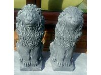 Lion concrete ornaments
