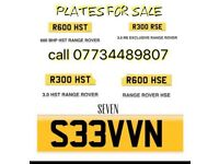 Reg plates for sale