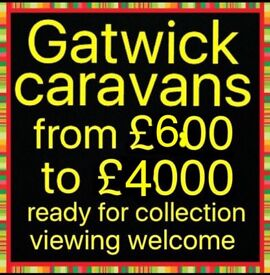Caravans For sale from £600 to £4000 Open all day Today