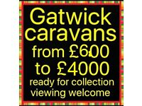 Caravans from £600 to £4000