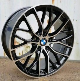 NEW 20'' M PERFORMANCE 405 STYLE ALLOY WHEELS X4 BOXED 5X120 BMW 3 4 5 series F30 F10
