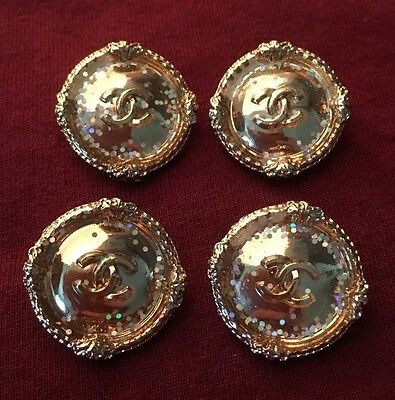 Chanel Buttons Set of 4 Gold Color 2cm