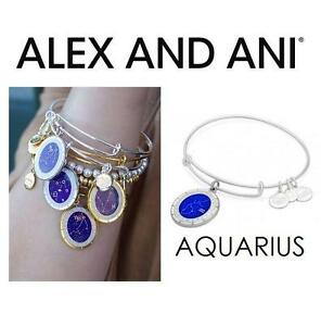 NEW ALEX AND ANI AQUARIUS BRACELET JEWELLERY - JEWELRY - CELESTIAL WHEEL CHARM BANGLE - SHINY SILVER 102932004