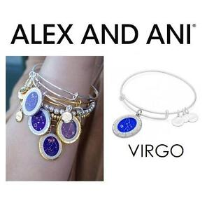 NEW ALEX AND ANI VIRGO BRACELET JEWELLERY - JEWELRY - CELESTIAL WHEEL CHARM BANGLE - SHINY SILVER 102944025