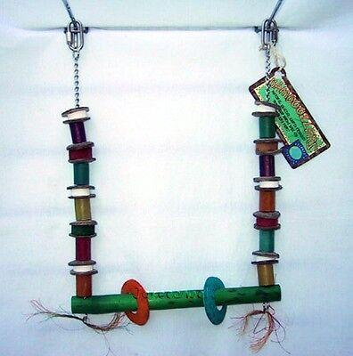 Parrot Toy Planet Pleasures Bird Swing Small Bamboo Coconut Sisal Cuttlebone