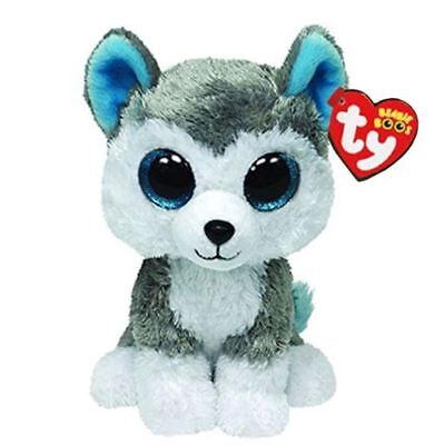 Husky 6 Ty Beanie Boos Whiskers Puppy Big Glitter Eyes Plush Stuffed Animals Toy