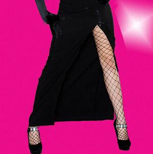 langer schwarzer rock mit zipper sexy schlitz gothic 34. Black Bedroom Furniture Sets. Home Design Ideas