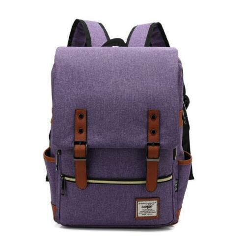 Fashion Men Canvas Backpack School Laptop Travel Rucksack Satchel Shoulder Bag