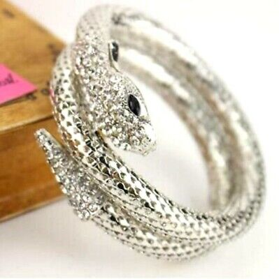 Hot Betsey Johnson Fashion Jewelry Multi-strand Silver snake Charming bracelets
