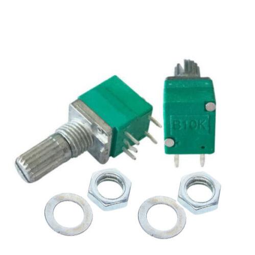 2pcs 2x B10K 10K Ohm Linear Pot Potentiometer Off On RV097NS Switch US Seller