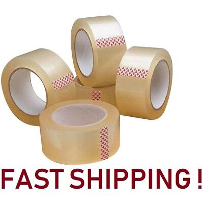 10 ROLLS CLEAR PARCEL CARTON SEALING PACKING REMOVAL selotape TAPE 2