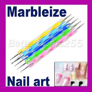 5-x-2-way-Acrylic-Paint-Painting-Dotting-Dot-Pen-Marbleizing-Tool-Nail-Art-Tips