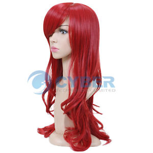 New-Stylish-long-Wavy-Curly-Cosplay-Party-Hair-womens-full-Wig-Wigs-Red
