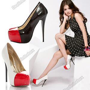 Womens-Lady-Fashion-Sexy-Pump-Platform-Stiletto-Super-High-Heel-Slim-Shoes-New