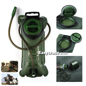 3L Bicycle Big Mouth Water Hydration Hiking Army Green TPU Bladder Bag New