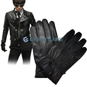 MENS-BLACK-SOFT-LEATHER-DRIVING-GLOVES-SHEEPSKIN-BLACK-WINTER-GIFT-IDEA-XMAS-UK