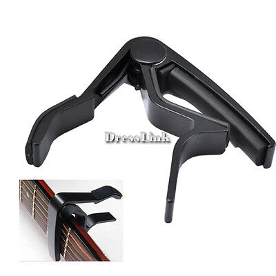 Electric Change Acoustic Single-handed Guitar Trigger Capo Black Key on Rummage