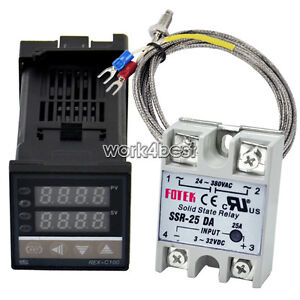 PID Digital Temperature Control Controller 0 to 400℃ +K Sensor +25DA SSR WST Hot