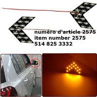 2pcs Amber Yellow 14-SMD LED Arrow Panels