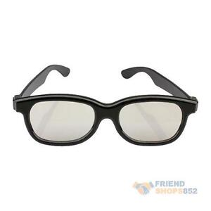 Polarized-3D-Glasses-Black-Movie-DVD-LCD-Video-Game-Theatre-Circular-F8s