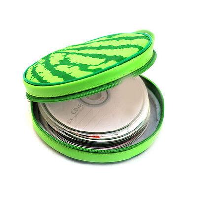 CD DVD Tasche Halter Schutzhülle Organizer 24x Wassermelone Form