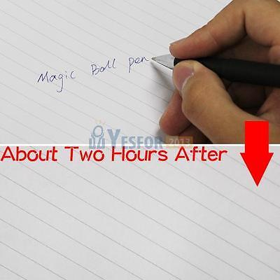 Black Auto Disappear Magic Ball Point Pen Disappearing Ink Draft Save Paper Magic Disappearing Ink