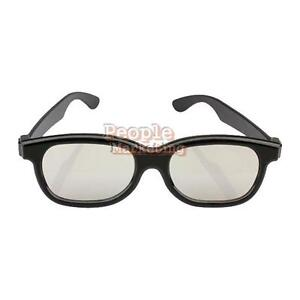 Polarized-3D-Glasses-Black-Movie-DVD-LCD-Video-Game-Theatre-Circular