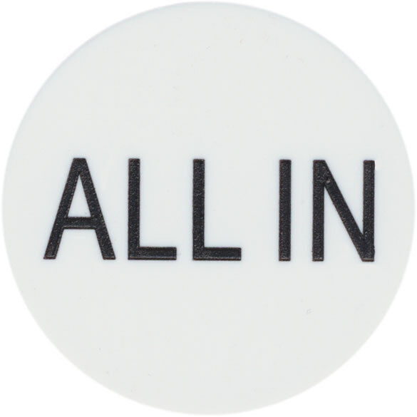 "New ""ALL IN"" BUTTON 2"" for Texas Hold"