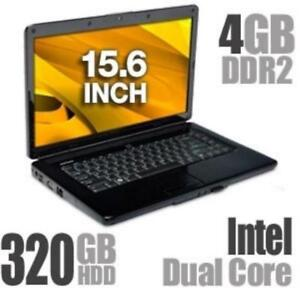 Dell Inspiron Notebook PC – Intel DUAL CORE 4 RAM  320 HDD