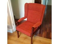 large comfortable chair with armrests in excellent condition can deliver