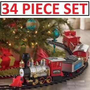 NEW 34PC CHRISTMAS TRAIN SET 1003442 214937441 NORTH POLE JUNCTION XMAS HOLIDAY TOY MODEL