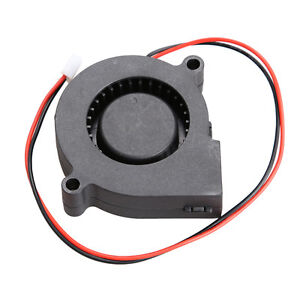 Brushless DC Cooling MID speed Blower Fan 2 Wires Quiet 5015S 12V 0.14A 50x15mm