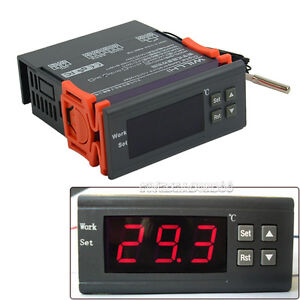 Hot Automatic Digital Temperature Controller Thermostat 12V Switch -30℃~300℃ FV8