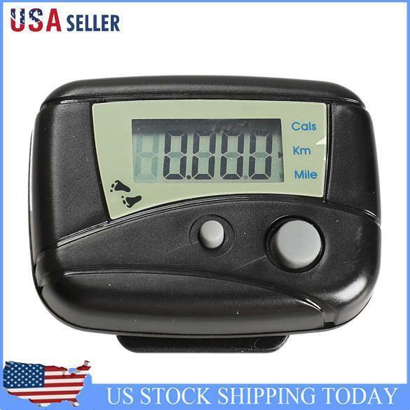 LCD Run Step Pedometer Walking Distance Calorie Counter Pass