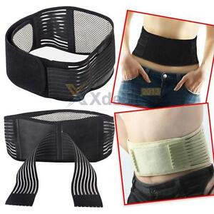 New Magnetic Heat Waist Belt Brace For Pain Relief Lower Back Therapy Support
